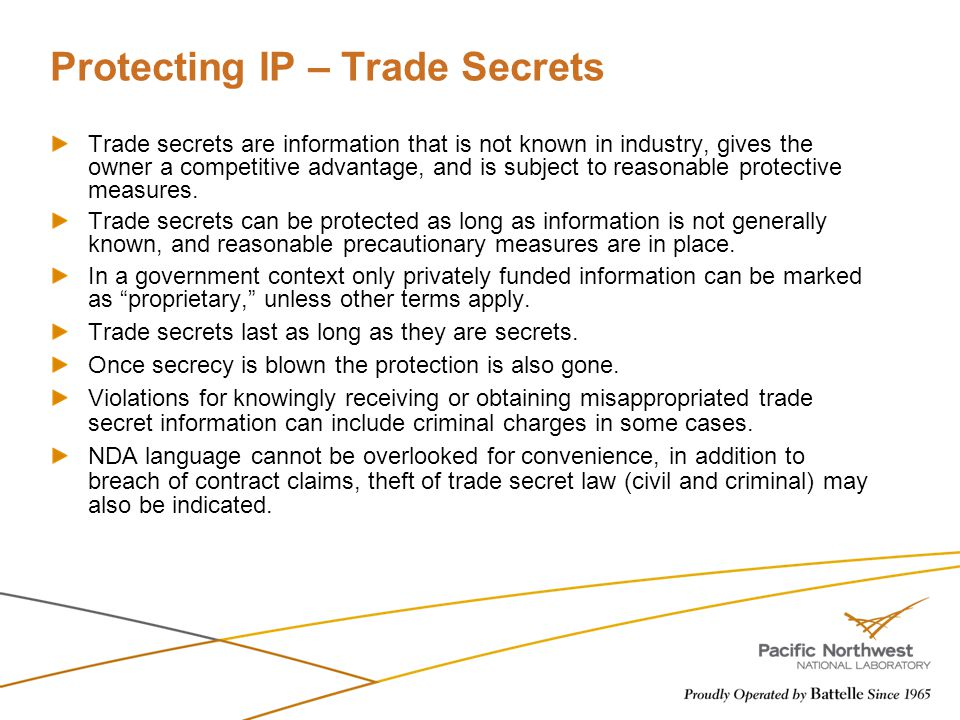 Protecting IP – Trade Secrets