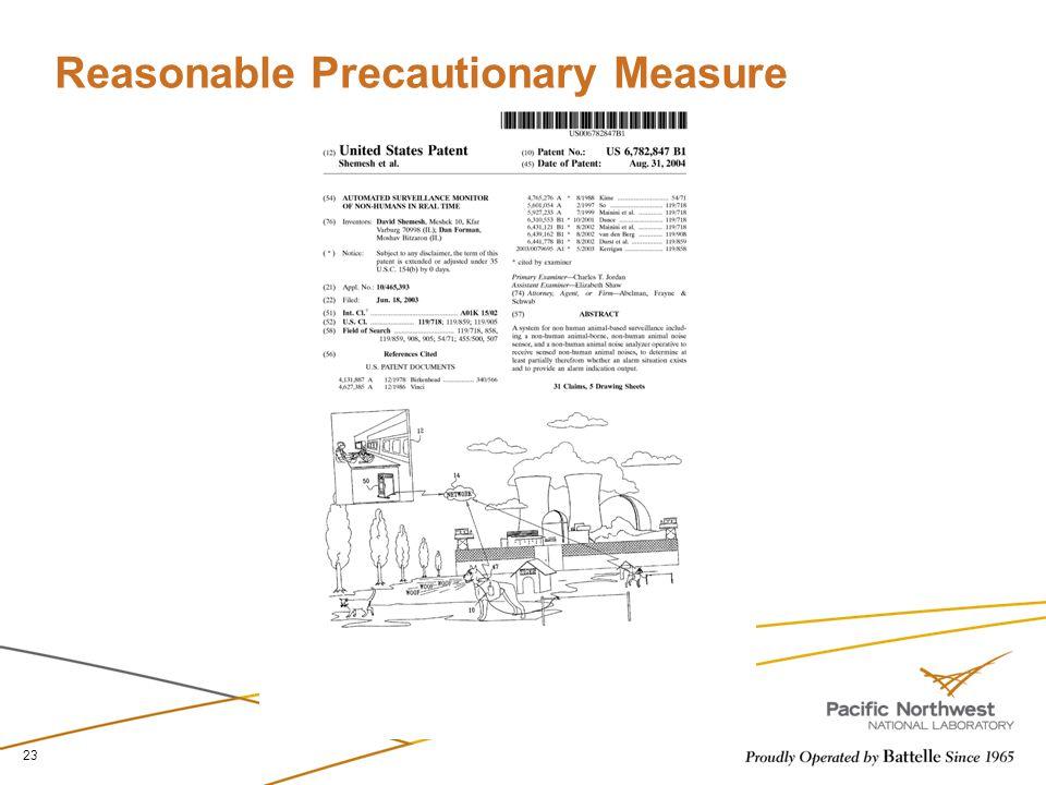 Reasonable Precautionary Measure