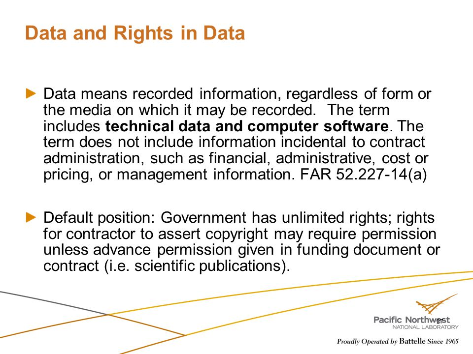 Data and Rights in Data