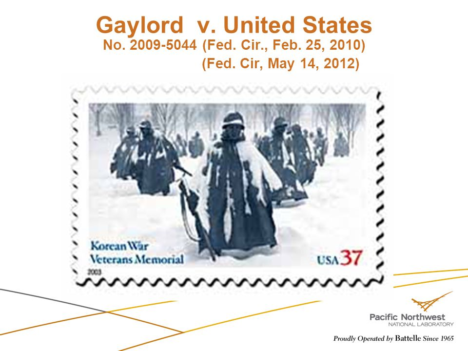 Gaylord v. United States No. 2009-5044 (Fed. Cir. , Feb. 25, 2010)