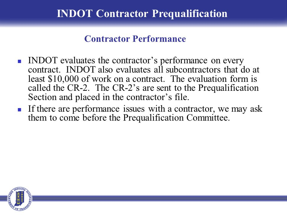 Contractor Performance