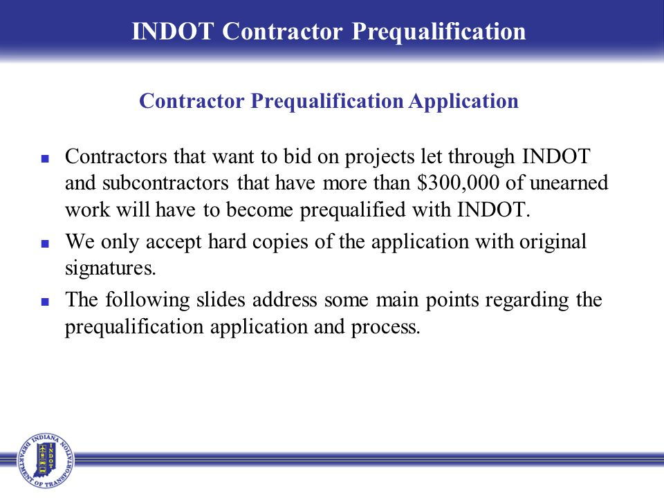 Contractor Prequalification Application