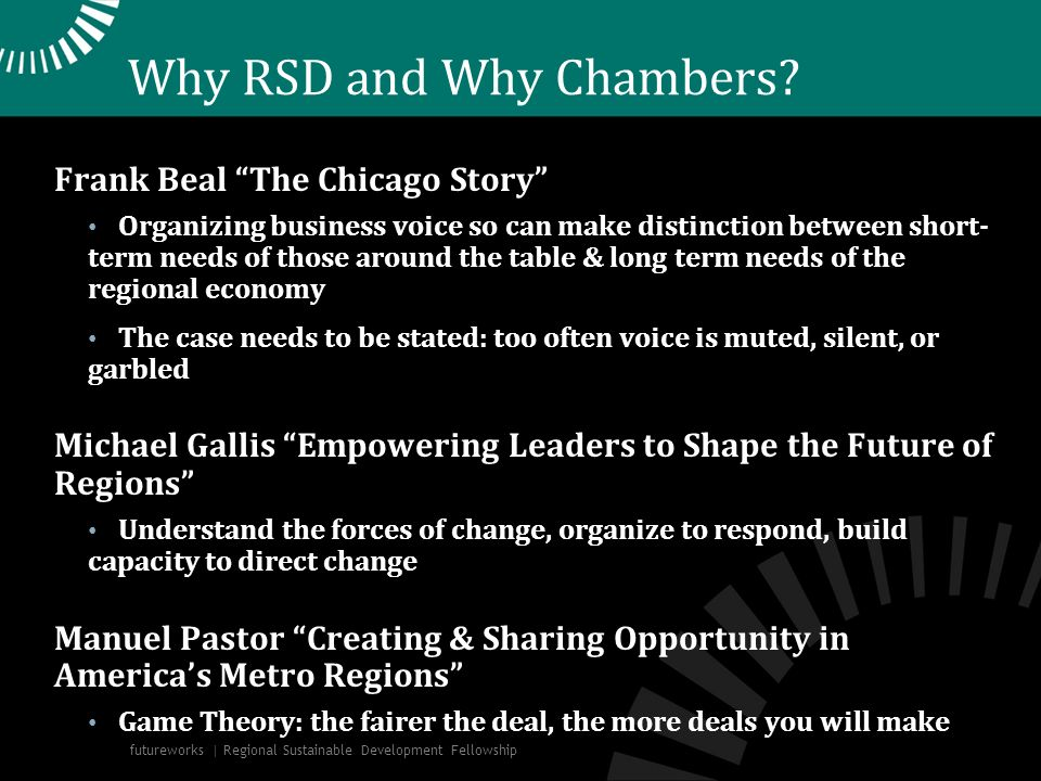Why RSD and Why Chambers