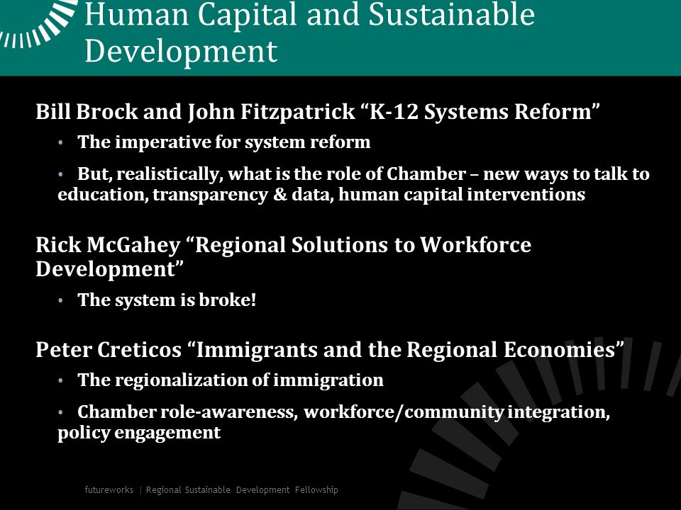 Human Capital and Sustainable Development