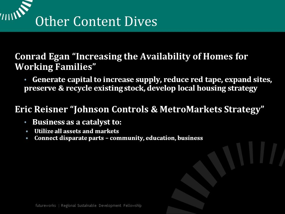 Other Content Dives Conrad Egan Increasing the Availability of Homes for Working Families