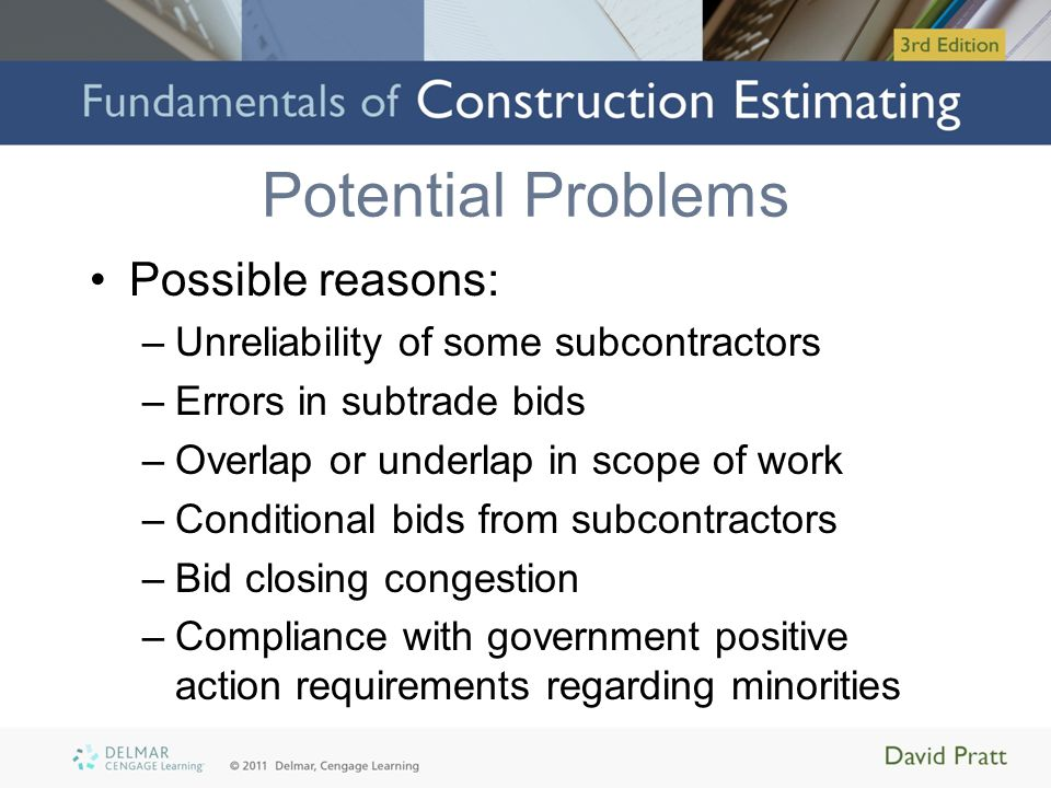 Potential Problems Possible reasons: