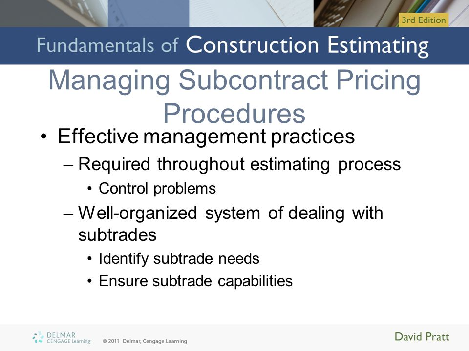 Managing Subcontract Pricing Procedures