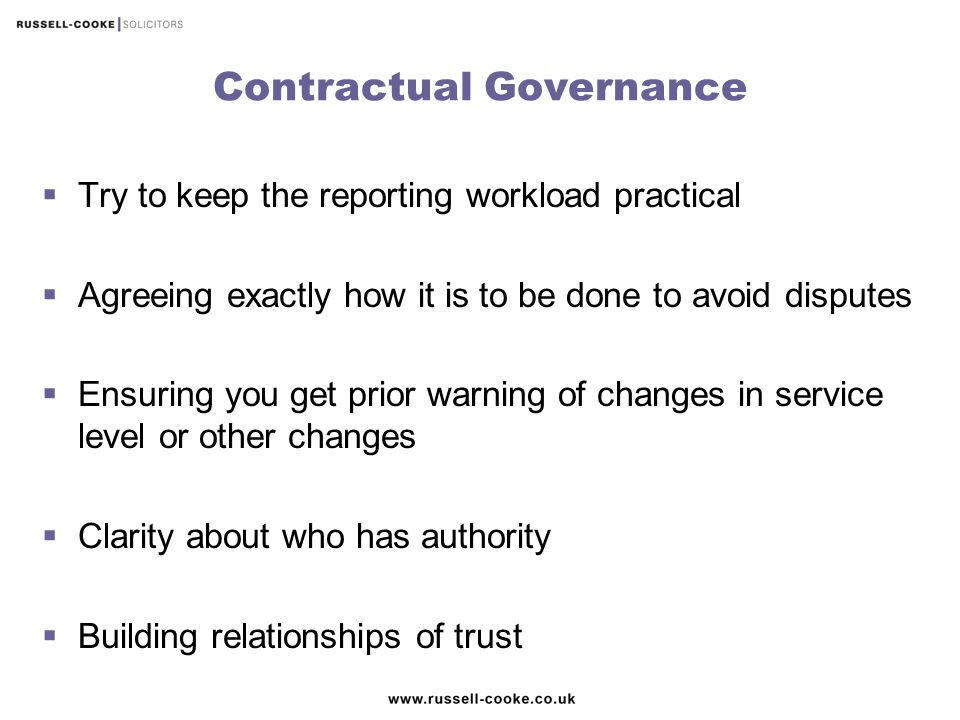 Contractual Governance