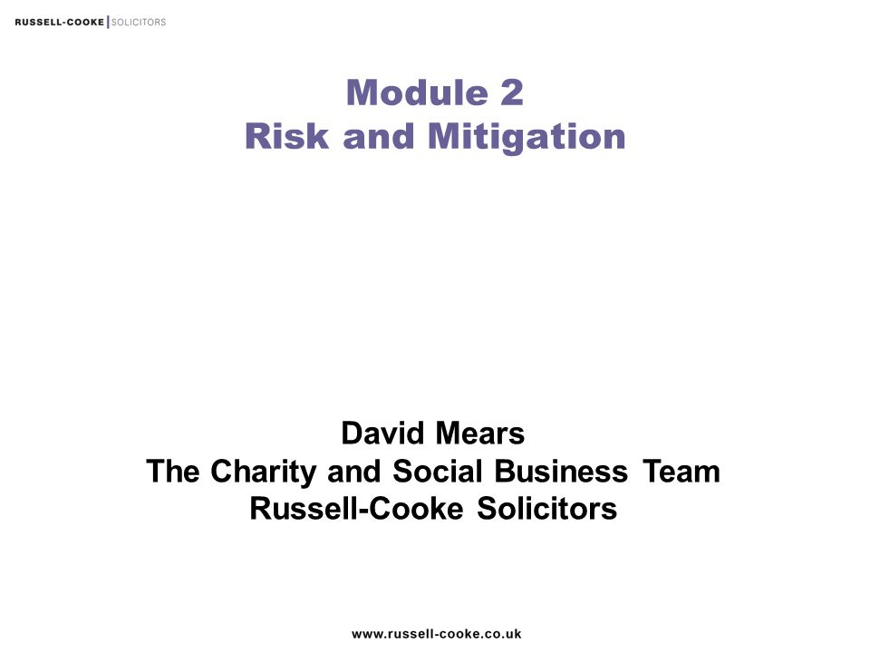 Module 2 Risk and Mitigation