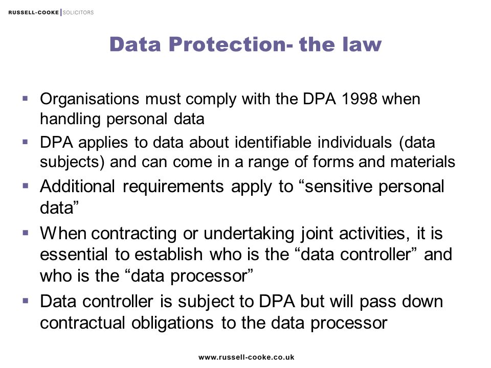 Data Protection- the law