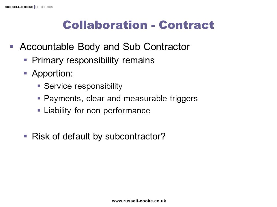 Collaboration - Contract