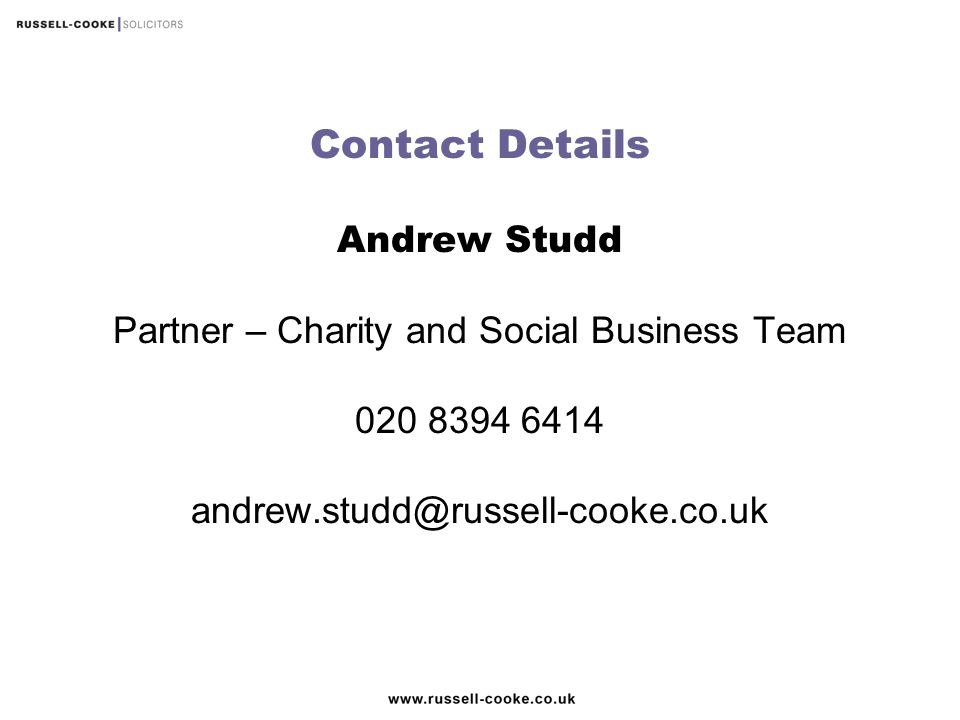 Partner – Charity and Social Business Team