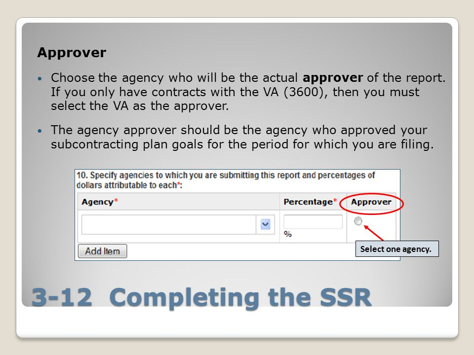 3-12 Completing the SSR Approver