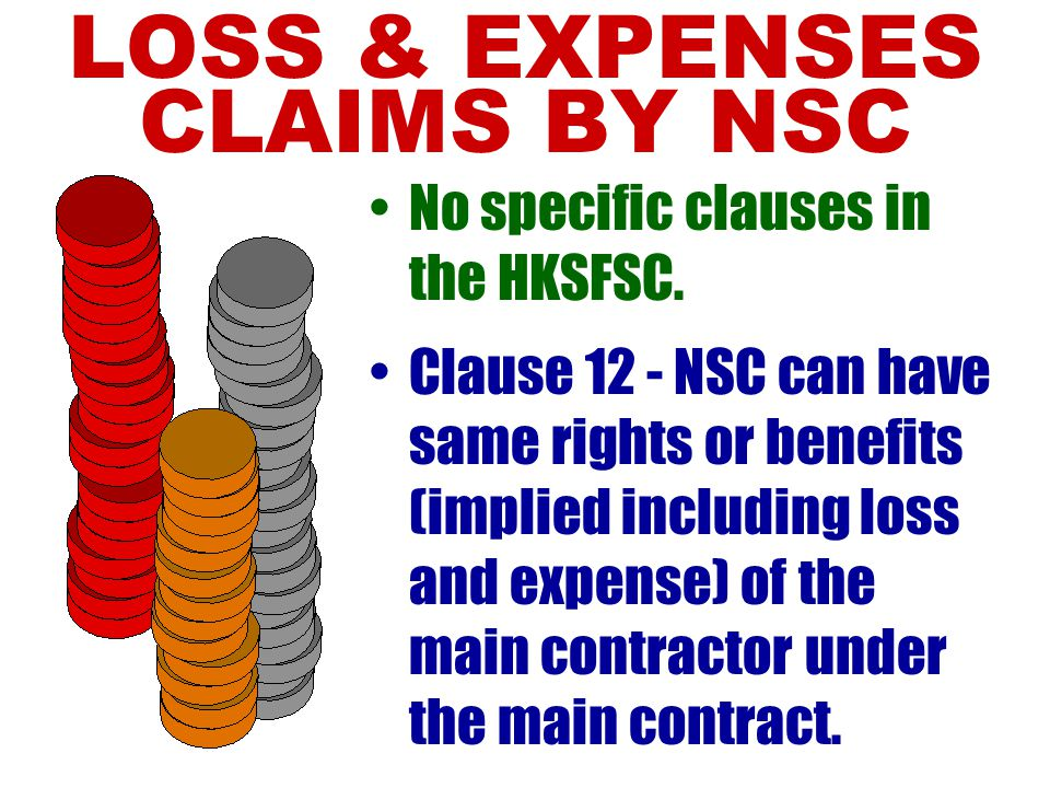 LOSS & EXPENSES CLAIMS BY NSC