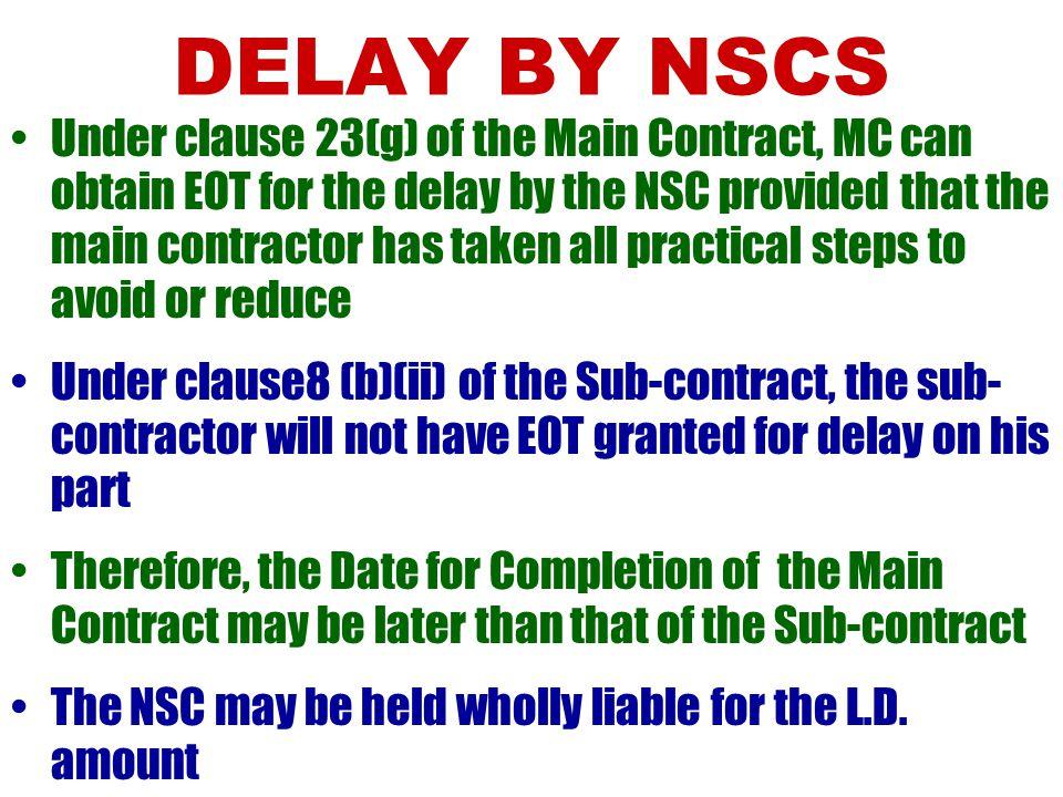 DELAY BY NSCS