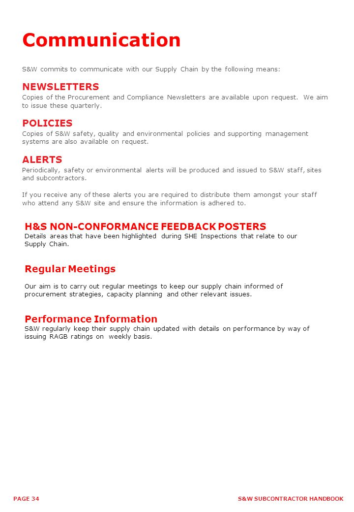 Communication NEWSLETTERS POLICIES ALERTS