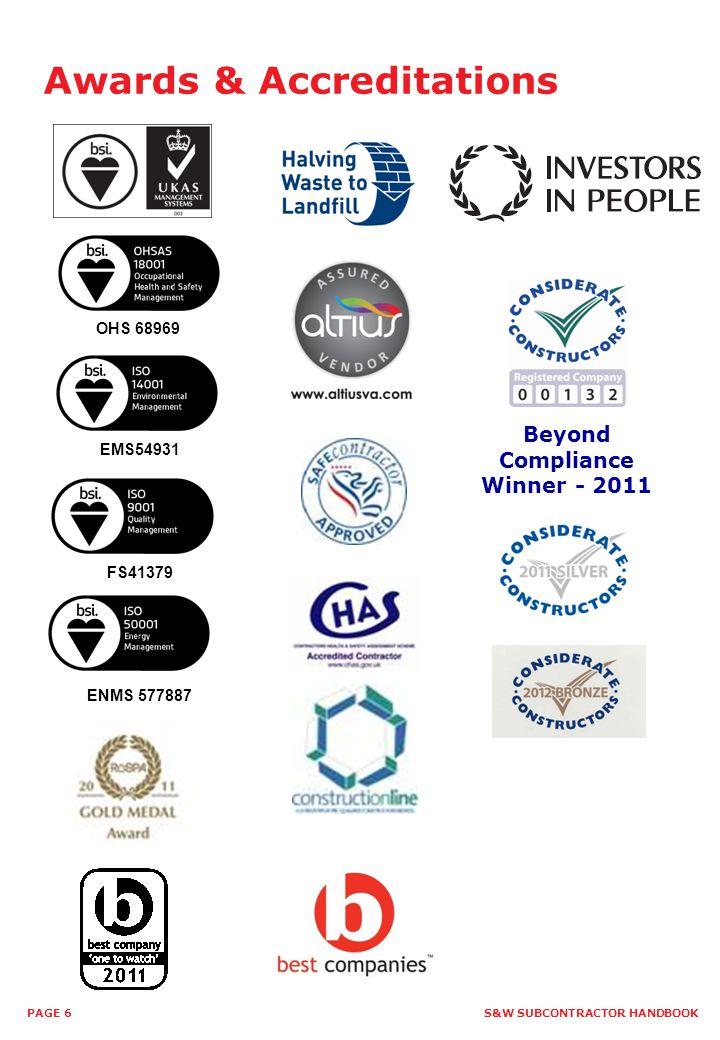 Beyond Compliance Winner - 2011