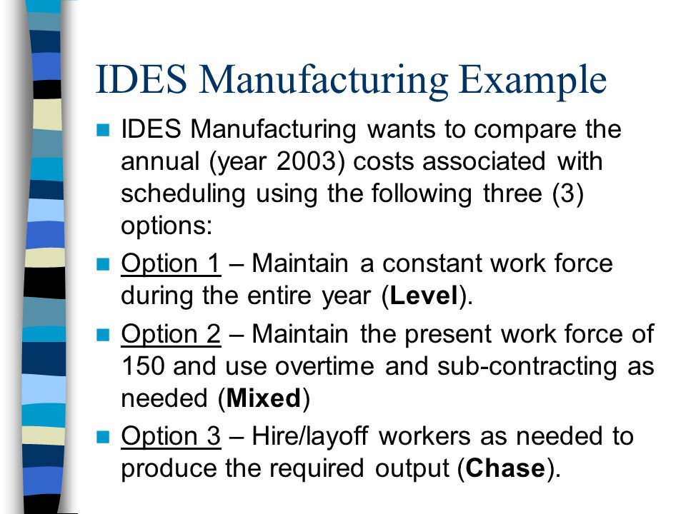 IDES Manufacturing Example