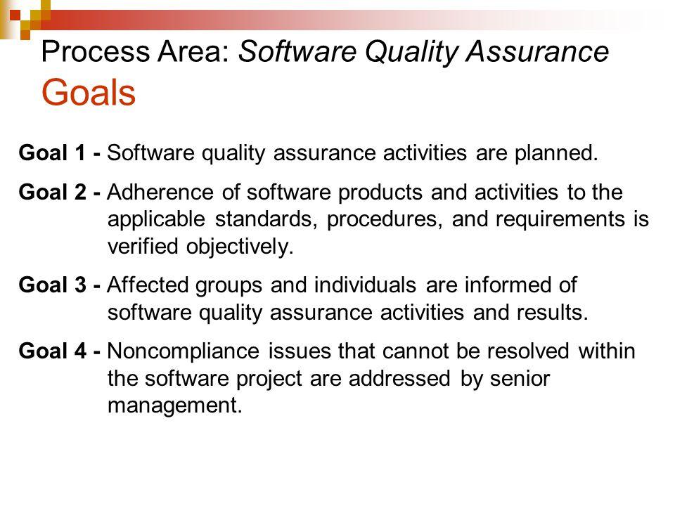 Process Area: Software Quality Assurance Goals
