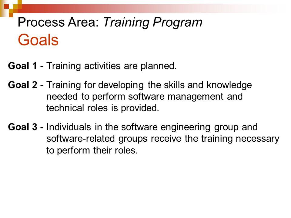 Process Area: Training Program Goals