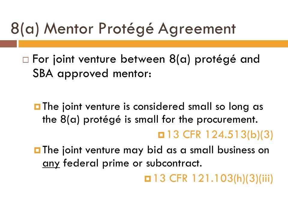 8(a) Mentor Protégé Agreement