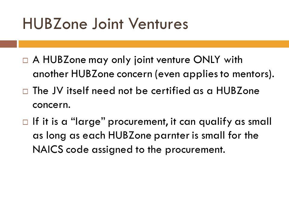 HUBZone Joint Ventures