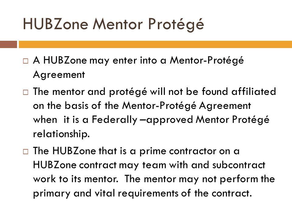 HUBZone Mentor Protégé