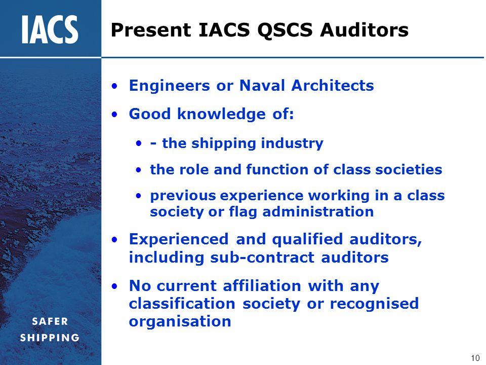 Present IACS QSCS Auditors