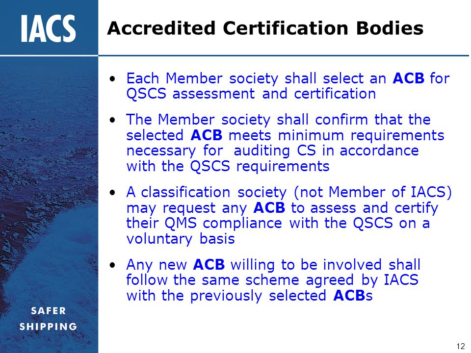 Accredited Certification Bodies