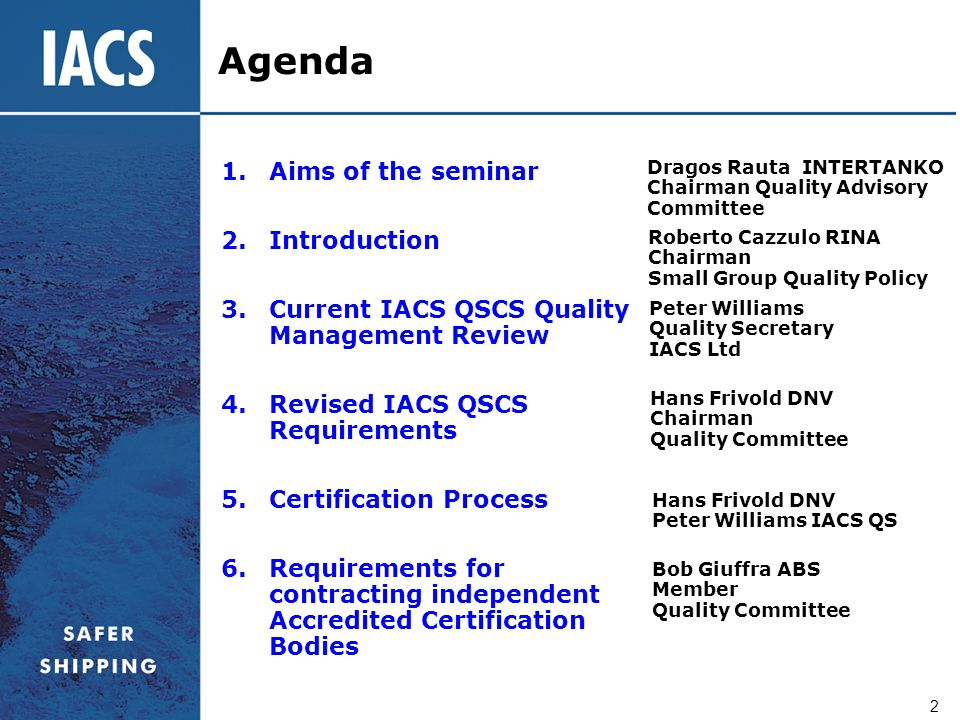 Agenda Aims of the seminar Introduction