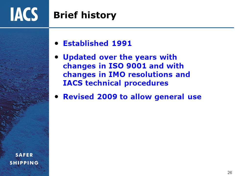 Brief history Established 1991