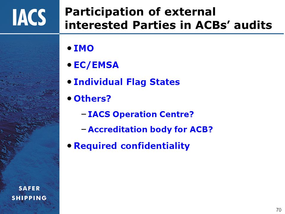 Participation of external interested Parties in ACBs' audits