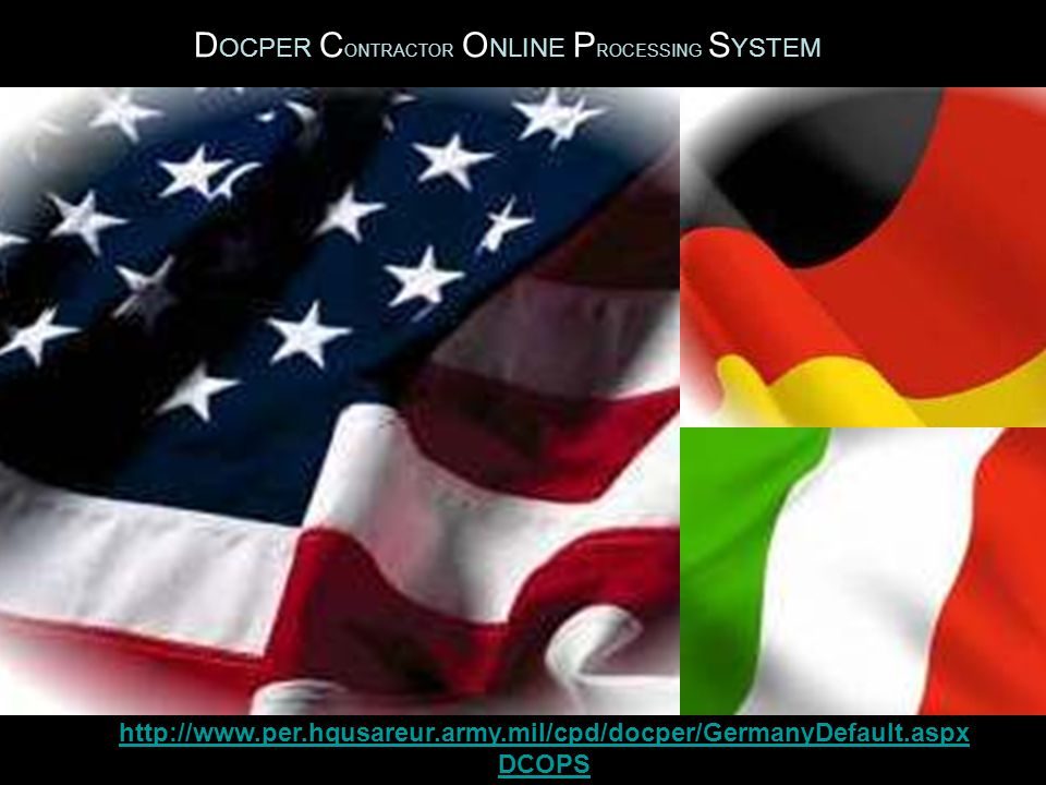 DOCPER CONTRACTOR ONLINE PROCESSING SYSTEM