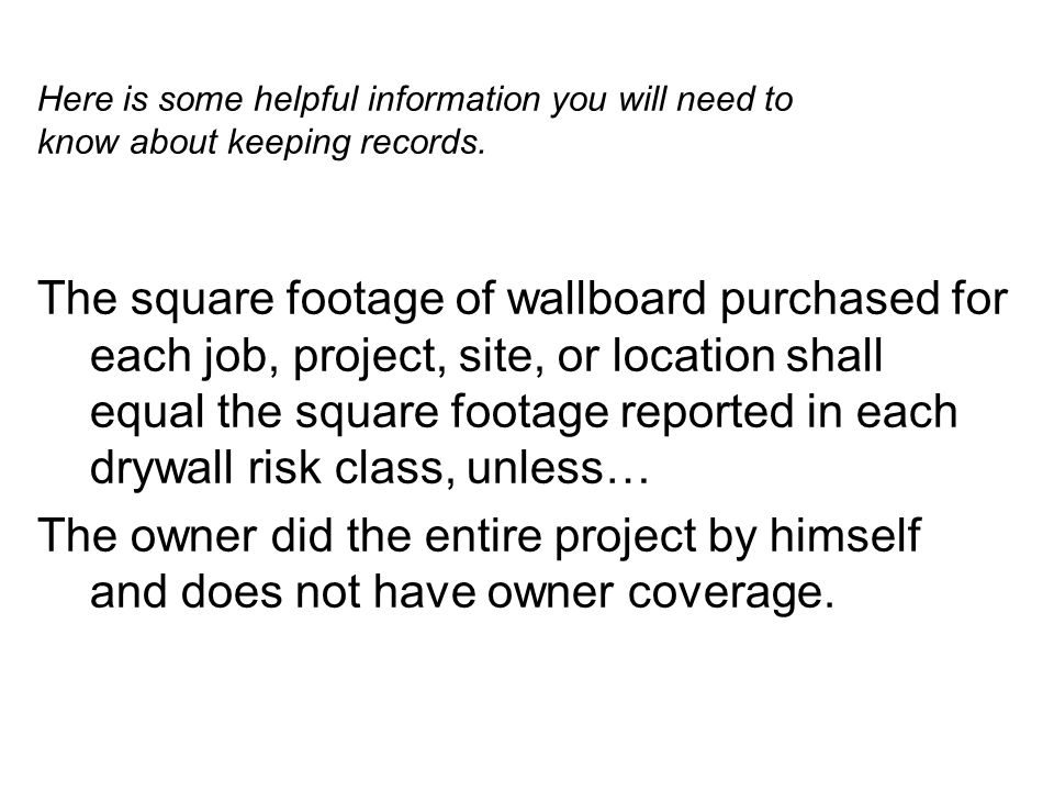 Here is some helpful information you will need to know about keeping records.