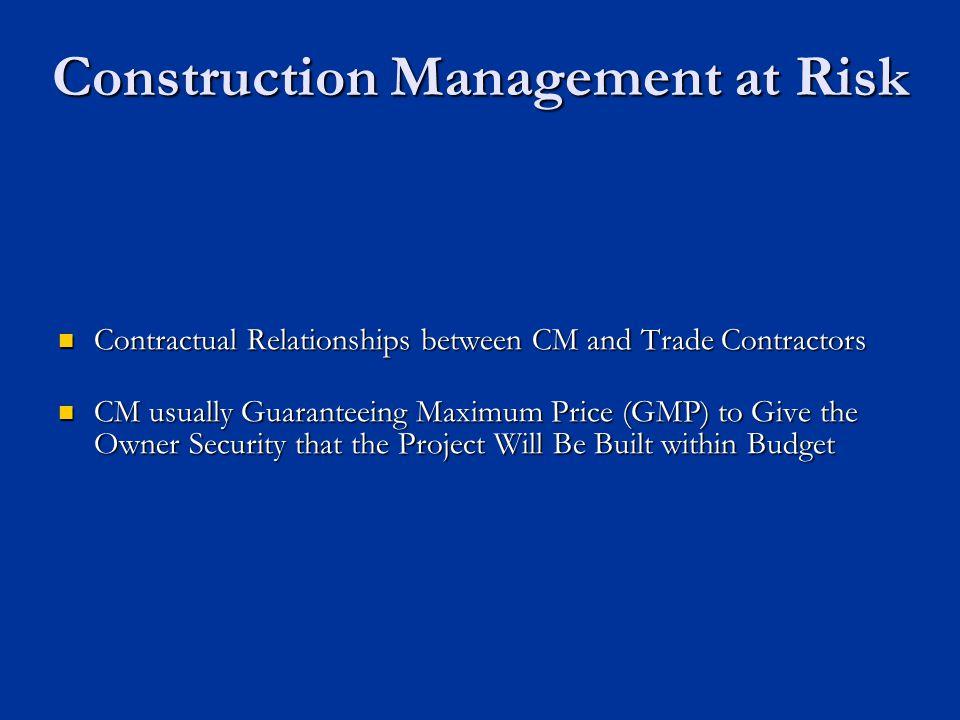 Construction Management at Risk