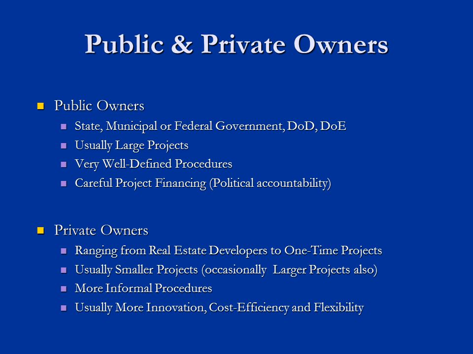 Public & Private Owners