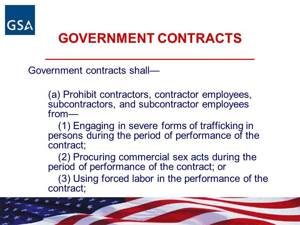 GOVERNMENT CONTRACTS ________________________________
