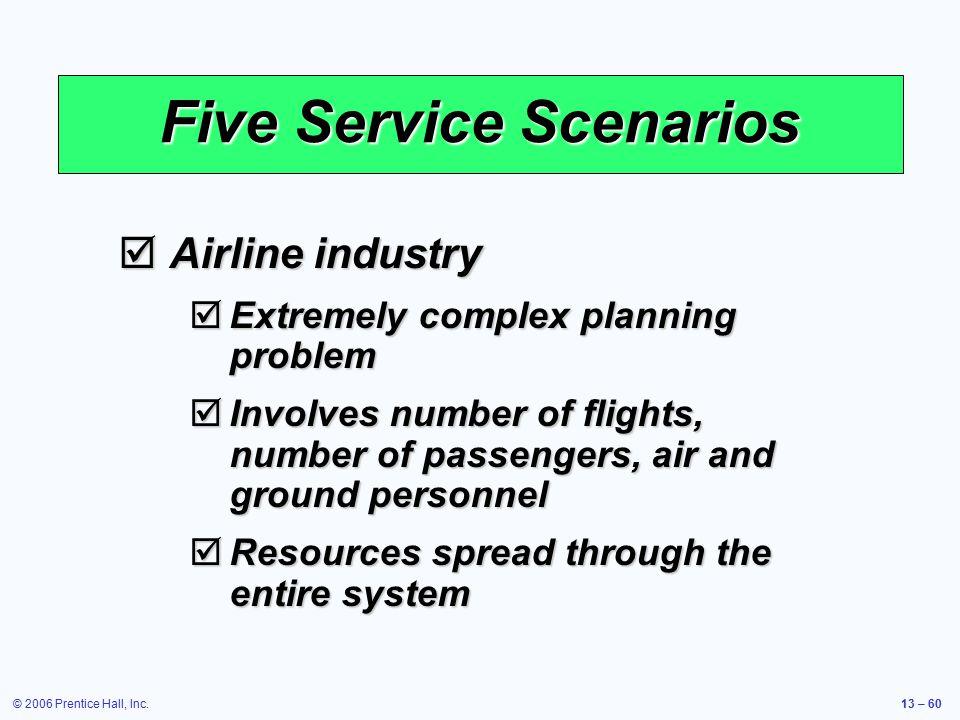 Five Service Scenarios