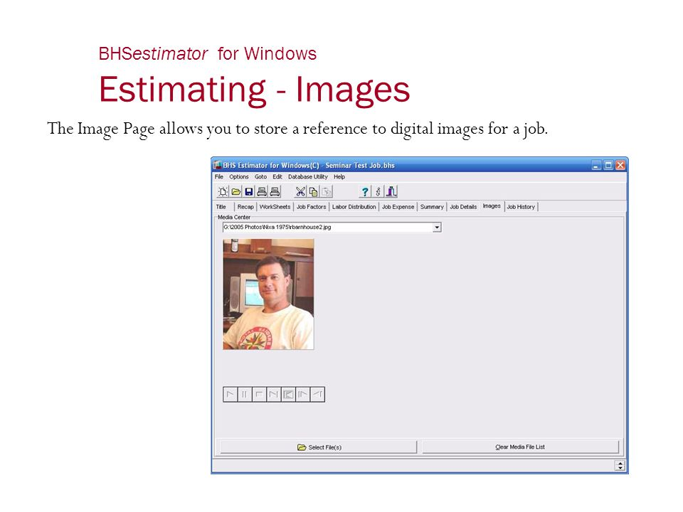BHSestimator for Windows Estimating - Images