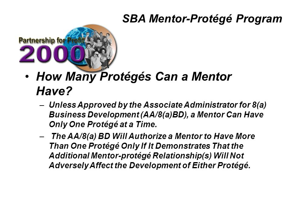 SBA Mentor-Protégé Program