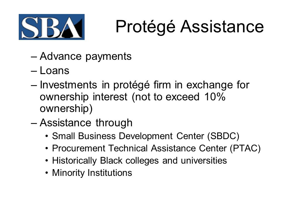 Protégé Assistance Advance payments Loans