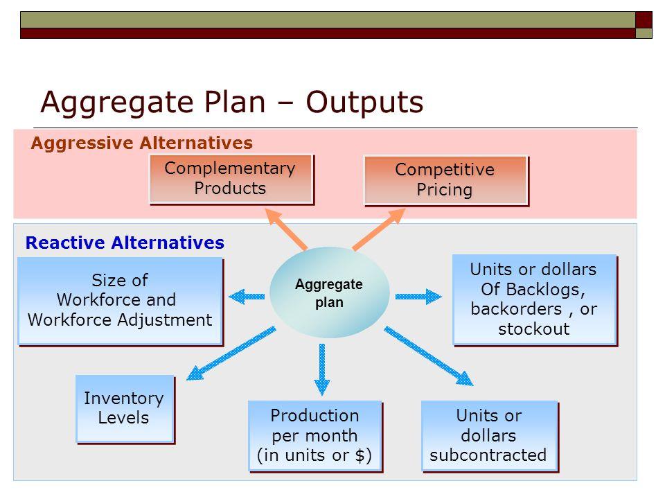 Aggregate Plan – Outputs