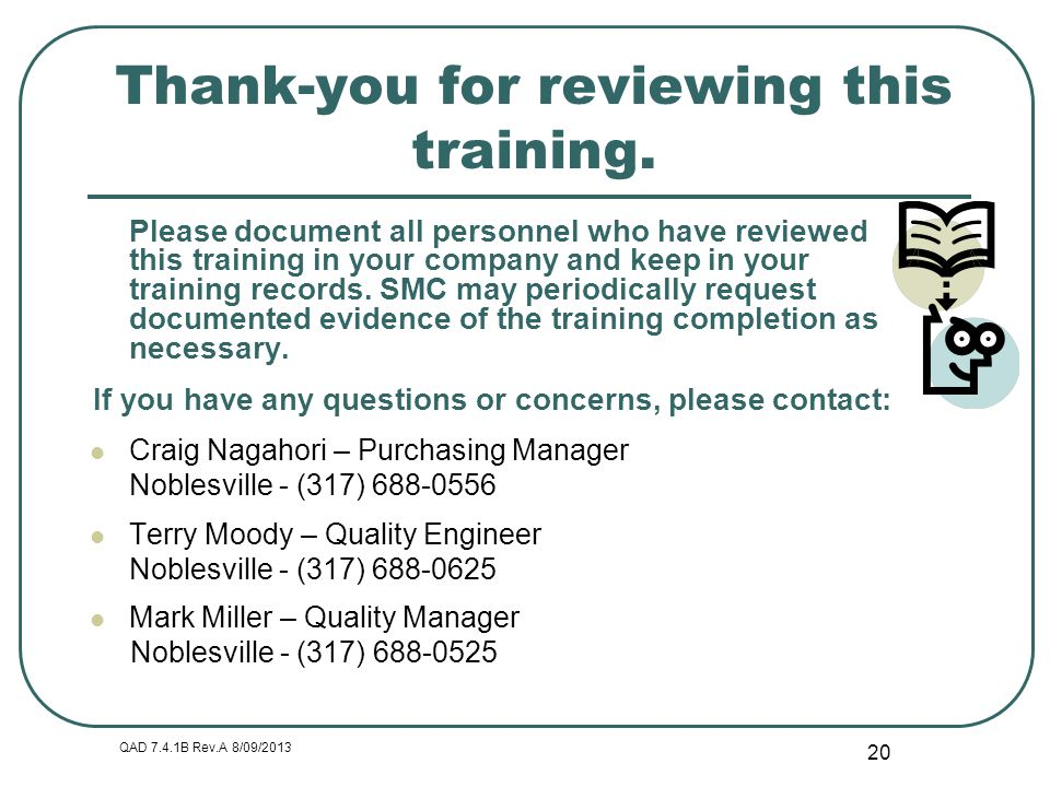 Thank-you for reviewing this training.
