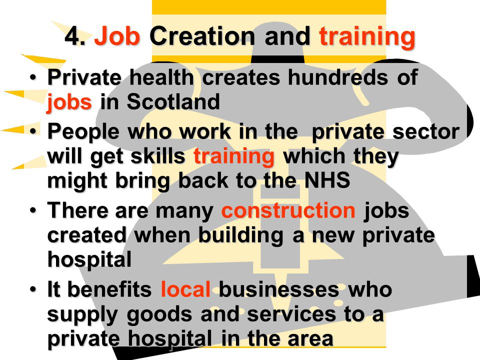 4. Job Creation and training