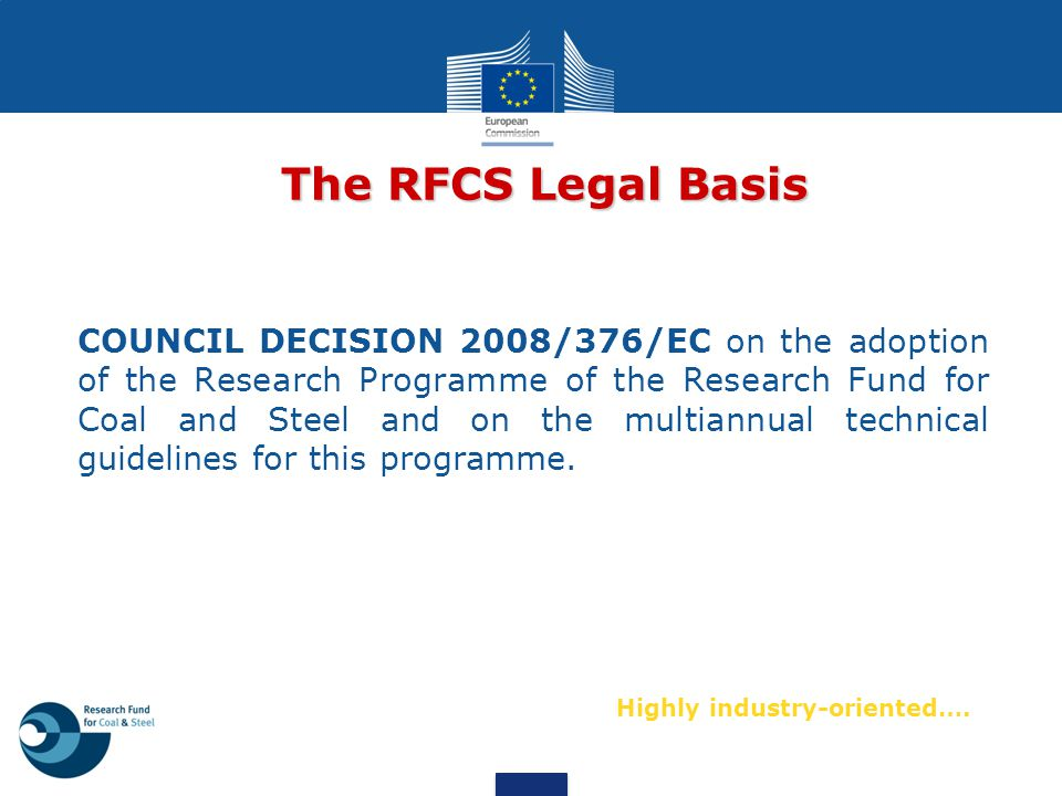 The RFCS Legal Basis