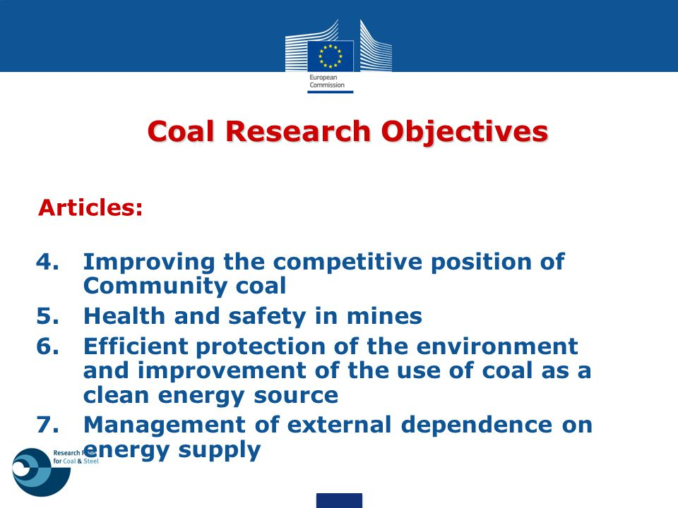 Coal Research Objectives
