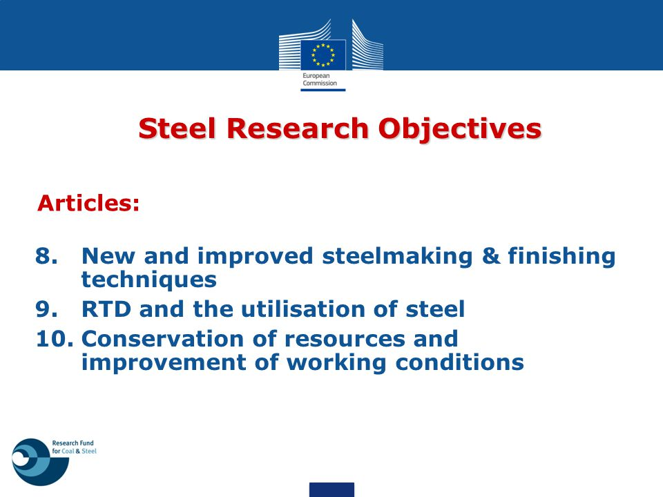 Steel Research Objectives