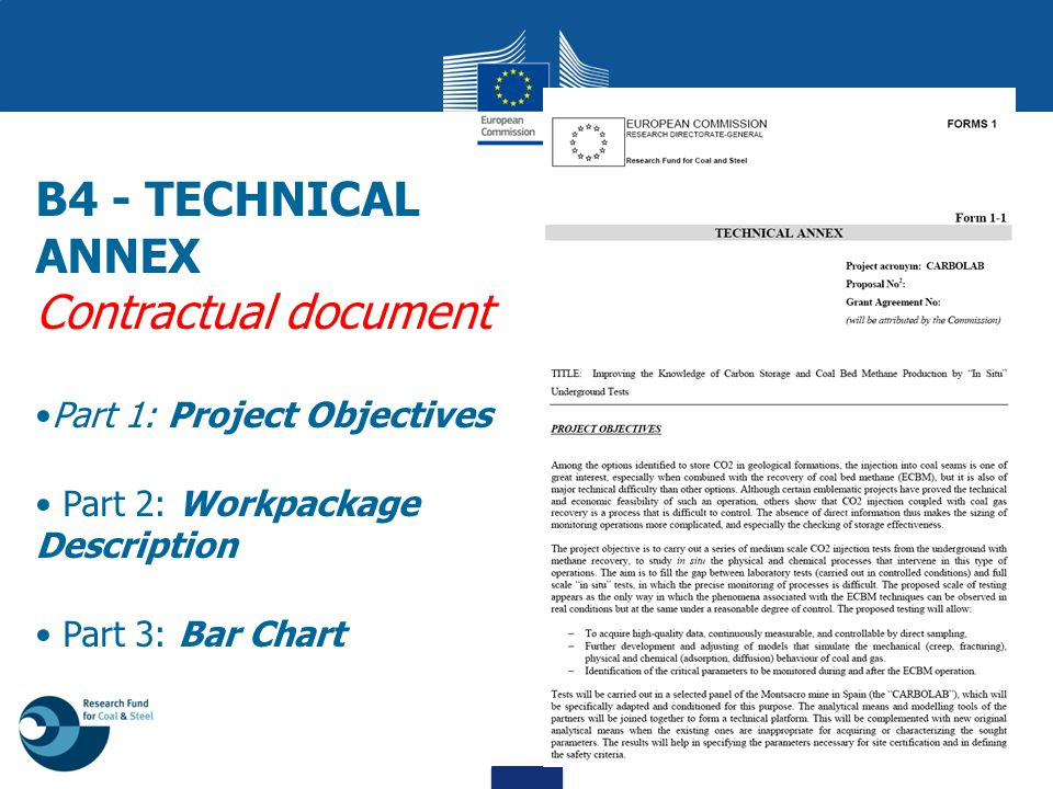 B4 - TECHNICAL ANNEX Contractual document Part 1: Project Objectives
