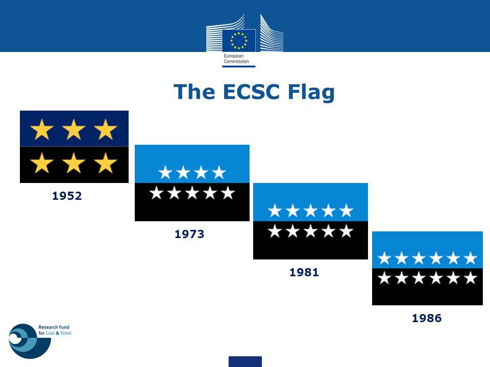 The ECSC Flag 1952 1973 1981 1986
