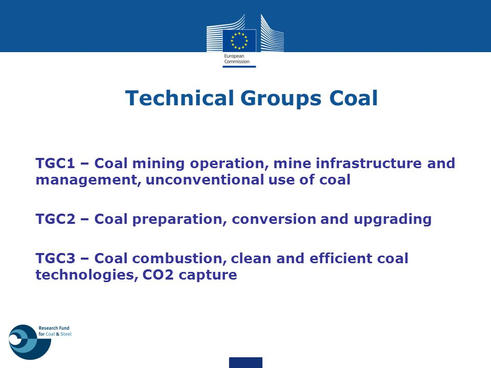 Technical Groups Coal TGC1 – Coal mining operation, mine infrastructure and management, unconventional use of coal.